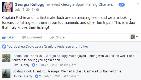 Fishing Charter Reviews for Georgia Sport Fishing Charters