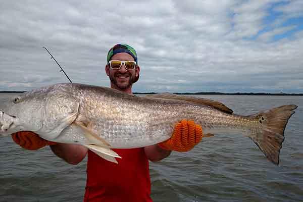 Jekyll Island Fishing Report, Georgia giant Redfish