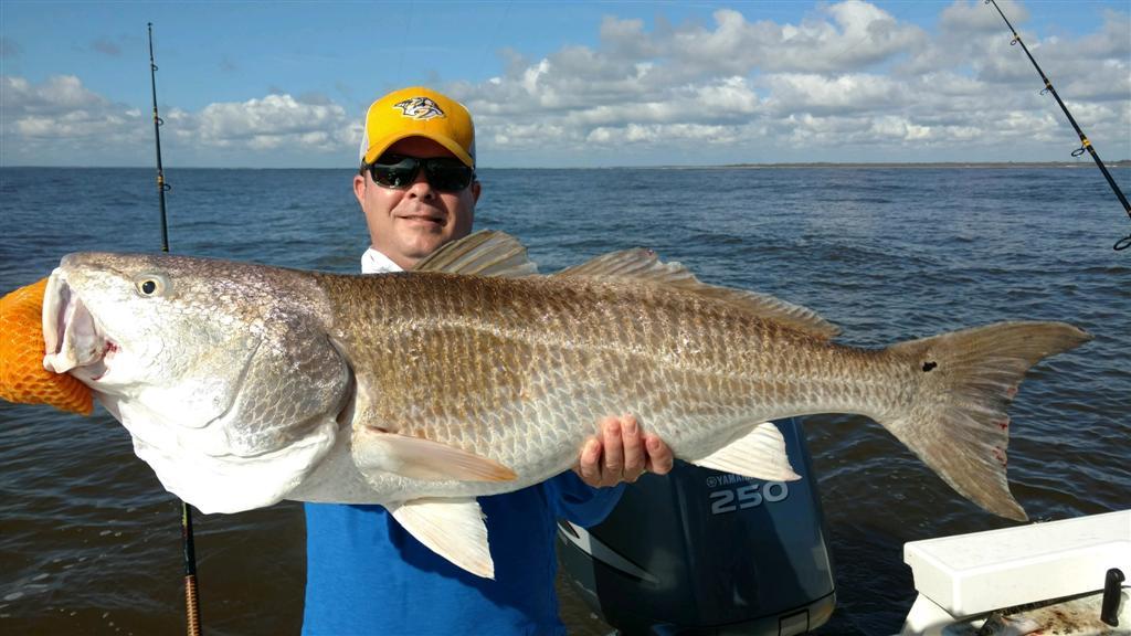 Fishing Report - Catching huge Redfish near St. Simons Island